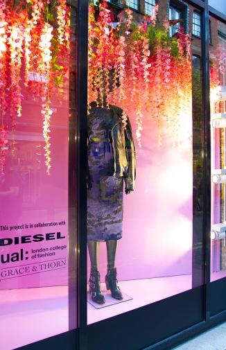 Diesel x LCF, window design, London, August 2016. Photo credit: London College of Fashion.