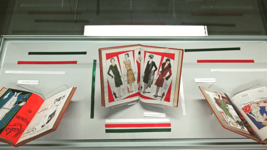 Fashion & Christmas, LCF Library display, December 2015.