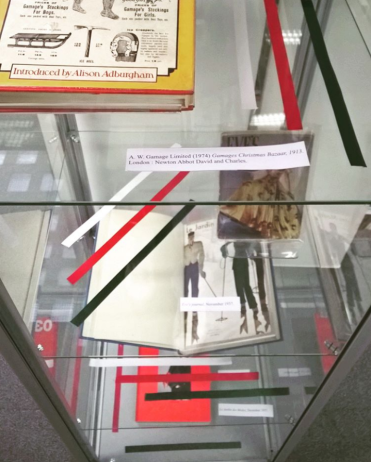 Fashion & Christmas, LCF Library display, December 2015.